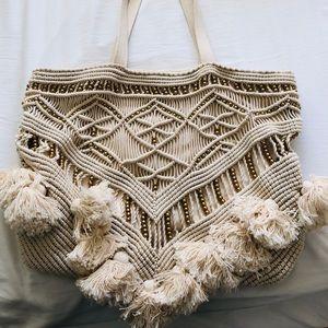 Handbags - Cleobella Gold & Cream Tote